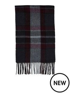 river-island-mens-burgundy-check-scarf