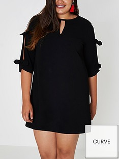 ri-plus-bow-tie-sleeve-dress--black