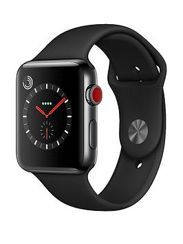 Apple Watch Series 3 Gps Cellular 42Mm Space Black Stainless Steel Case With Black Sport Band cheapest retail price