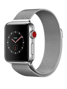 Buy Brand New Apple Watch Series 3 Gps Cellular 38Mm Stainless Steel Case With Milanese Loop