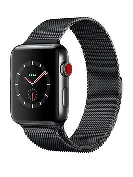 Apple Watch Series 3 Gps Cellular 42Mm Space Black Stainless Steel Case With Space Black Milanese Loop cheapest retail price