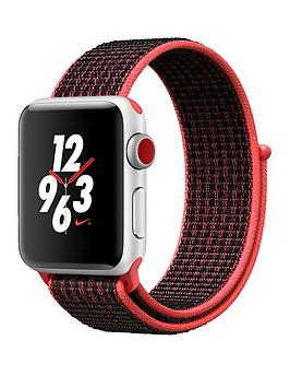 Buy Brand New Apple Watch Nike Series 3 Gps Cellular 38Mm Silver Aluminium Case With Bright CrimsonBlack Sport Loop