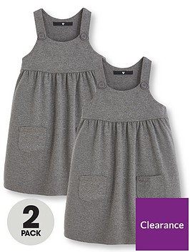 v-by-very-girls-2-pack-jersey-school-pinaforenbspdresses-grey