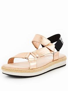 tommy-jeans-fresh-modern-metallic-flat-sandal-rose-gold