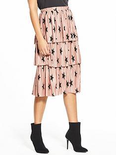 v-by-very-pleated-tier-skirt-star-print