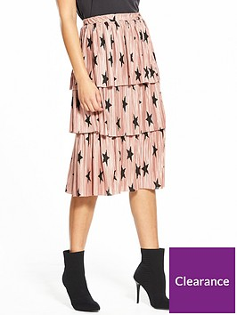 v-by-very-pleated-tier-skirt-star-print