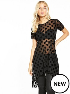 v-by-very-spot-dipped-hem-top