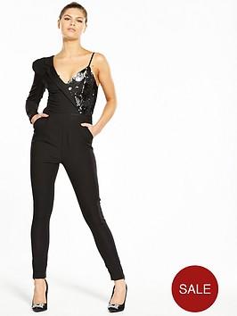 v-by-very-unique-asymmetric-sequin-detail-jumpsuit
