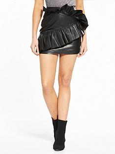 v-by-very-unique-mini-leather-skirt