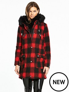 river-island-check-parka-coat--red