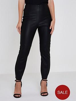 ri-petite-pu-high-rise-trousers--black