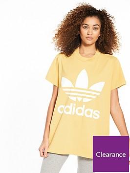 adidas-originals-adicolor-big-trefoil-tee-sand