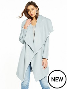 v-by-very-drape-front-coat-blue