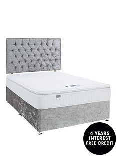 luxe-collection-by-silentnight-florence-1000-pillowtop-divan-bed-and-storage-options-includes-headboard-silver