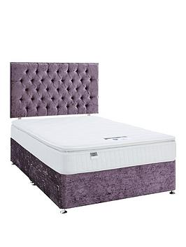 luxe-collection-by-silentnight-florence-1000-pillowtop-divan-bed-and-storage-options-includes-headboardnbspviolet