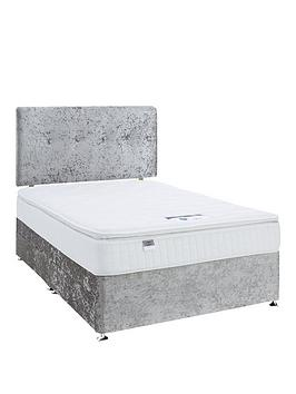 Product photograph showing Luxe Collection By Silentnight Francesca 1000 Pillowtop Divan Bed With Storage Options Includes Headboard