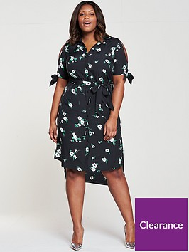 v-by-very-curve-cold-shoulder-midi-shirt-dress