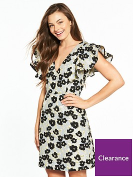 v-by-very-floral-frill-jacquard-a-line-dress