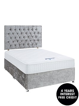 luxe-collection-by-silentnight-florence-1000-memorynbspdivan-bed-and-storage-options-includes-headboard-silver