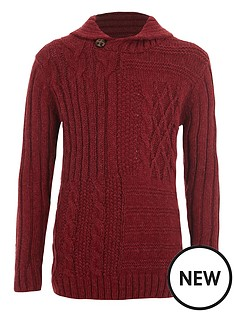 river-island-boys-red-mixed-cable-knit-jumper