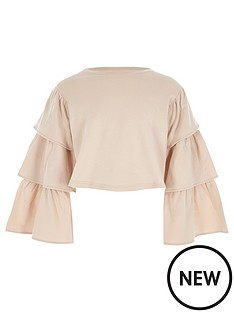 river-island-girls-pink-tiered-sleeve-cropped-sweatshirt