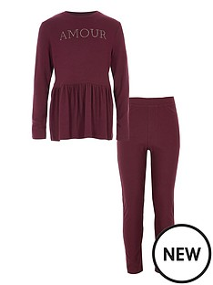 river-island-girls-berry-lsquoamourrsquo-peplum-jumper-outfit