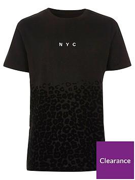 river-island-boys-black-lsquonyc039-leopard-print-flock-t-shirt