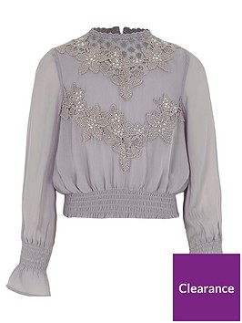 river-island-girls-grey-embroidered-high-neck-shirred-top