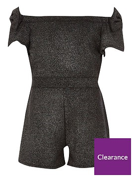 river-island-girls-black-metallic-bow-bardot-playsuit