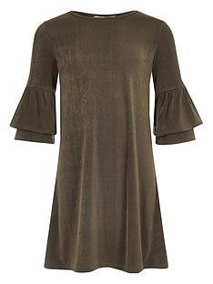 river-island-girls-frill-sleeve-swing-dress