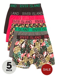 river-island-boys-pink-tropical-print-trunks-multipack