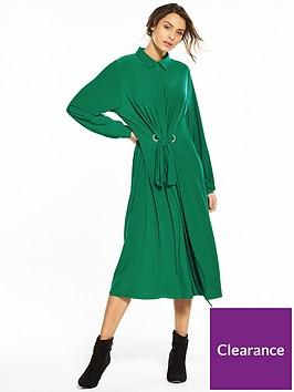 v-by-very-ity-midi-shirt-dress-green