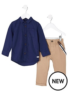 river-island-mini-boys-navy-shirt-and-braces-chinos-outfit