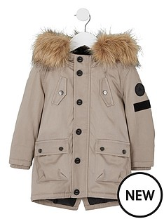 river-island-mini-boys-stone-faux-fur-hood-parka-coat