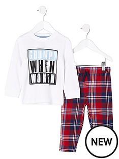 river-island-mini-boys-lsquogrumpy-when-wokenrsquo-pyjama-set