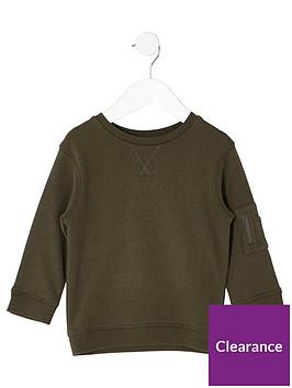 river-island-mini-boys-khaki-sleeve-pocket-sweatshirt