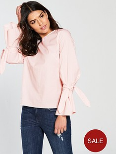 vila-jenner-long-sleeve-bow-top-pink