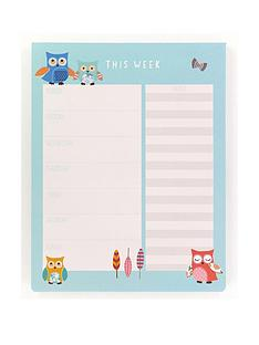 go-stationery-owl-weekly-planner