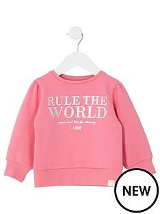river-island-mini-girls-pink-039rule-the-world039-sweatshirt