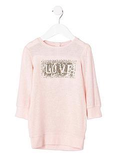 river-island-mini-girls-pink-039love039-sequin-jumper-dress