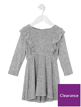 river-island-mini-girls-grey-frill-long-sleeve-knit-dress