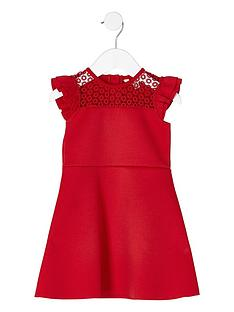 river-island-mini-girls-red-lace-frill-shoulder-dress