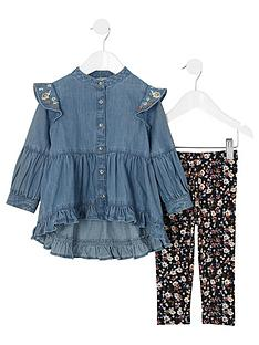 river-island-mini-girls-floral-denim-frill-dress-outfit