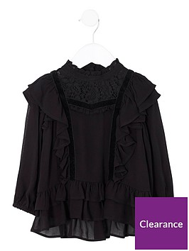 river-island-mini-girls-black-frill-lace-high-neck-top