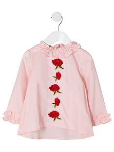 river-island-mini-girls-pink-rose-applique-ruffle-neck-top
