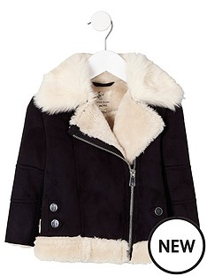 river-island-mini-girls-black-faux-fur-trim-aviator-jacket