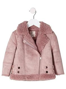 river-island-mini-girls-pink-faux-suede-aviator-jacket
