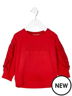river-island-mini-girls-red-lsquodivarsquo-embossed-sweatshirt