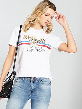 replay-love-kills-distressed-t-shirt-white