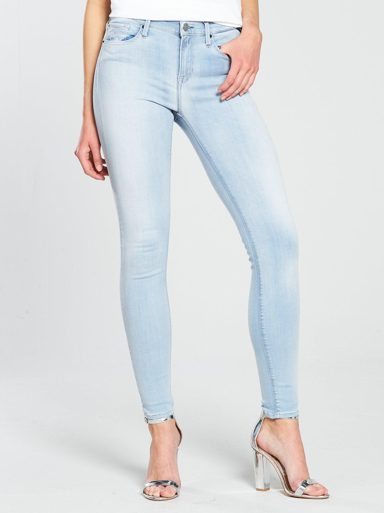 Replay Joi Hyperflex Jeggings - Light Wash